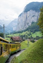 Looking back down towards Lauterbrunnen