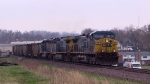 CSX 97 leads two other units with a loaded coal train