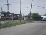 NS 9843 and 2563 Pulling Road Railers on a Meet with NS 5056 and 5074 with Their Empties